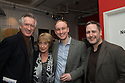 London, UK. 24.02.2014. Actor, Peter Land, Dame Gillian Lynne, Stuart Matthew Price (who plays Tony Gross) and Nick Winston (choreographer) at the after party for press night of The A to Z of Mrs P, which premieres at Southwark Playhouse. © Jane Hobson.