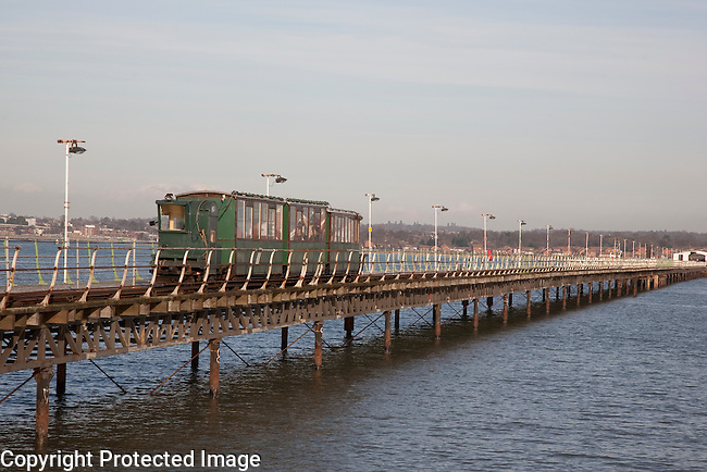 Hythe Ferry and Pier Railway, Southampton, England, UK