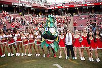 Stanford, CA - November 5, 2016: Celebration after the Stanford vs Oregon State game at Stanford Stadium Saturday. <br /> <br /> Stanford won 26-15.
