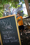 Will Harltley stands by his family's Los Altos Hills' farmstand.