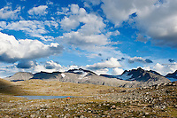 Scenic mountain landscape of Jotunheimen national park, Norway