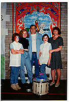 Tommy with his family during a visiting day at the Maze prison in the mid 1990s.