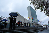 New York City, NY. 25 September 2014. General View of the the United Nations Headquarters the venue for the 69th  General Assembly in New York.  Photo by Kena Betancur/VIEWpress