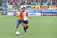 VOETBAL: LEEUWARDEN: 16-08-2015, SC Cambuur - Feyenoord, uitslag 0-2, Bilal Basacikoglu (#14), Marlon Pereira (#5), ©foto Martin de Jong