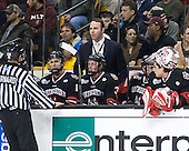 Bob Bernard, Patrick Foley (NU - Assistant Coach), Josh Manson (NU - 3), Derick Roy (NU - 1) - The Boston College Eagles defeated the Northeastern University Huskies 6-3 on Monday, February 11, 2013, at TD Garden in Boston, Massachusetts.