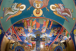 Miloje Milinkovich's icons painted on the walls of historic St. Sava Serbian Orthodox Church, Jackson, Calif.