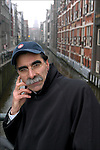Iranian author Kader Abdolah in Amsterdam where he lives.