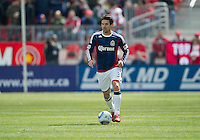 02 April 2011: Chivas USA defender Heath Pearce #3 in action during an MLS game between Chivas USA and the Toronto FC at BMO Field in Toronto, Ontario Canada..The game ended in a 1-1 draw.