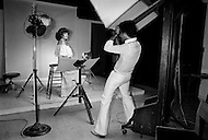 August 31st, 1977, Manhattan, New York City, For her moment of fame, Regine poses in a photographer's studio in Manhattan.