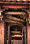 Wooden detail in Front Pavilion of Longshan Temple, Lugang, Changhua County, Taiwan