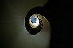Spiralling staircase at Point Loma Lighthouse Cabrillo National Monument San Diego California USA