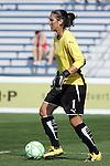 25 April 2009: Hope Solo (1) of Saint Louis Athletica.  Saint Louis Athletica tied the visiting Los Angeles Sol 0-0  in a regular season Women's Professional Soccer game at Robert R. Hermann Stadium at St. Louis University, St. Louis, Missouri.