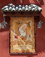 Parish of San Francisco and San Eulogio de la Ajerquía (detail), founded during the 13th Century, centre of the Franciscans until 1812 when the monastery disappeared, Cordoba, Andalusia, Spain. Picture by Manuel Cohen