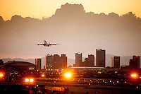 A British Air 747 departs Phoenix, Arizona the 6th most populous city in the country with almost 1.5 million in the city and more than four million in the metropolitan area. The capital of Arizona, the city is located in the Valley of the Sun, a popular destination for winter vistors in North America.