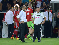 FUSSBALL   1. BUNDESLIGA   SAISON 2013/2014   SUPERCUP Borussia Dortmund - FC Bayern Muenchen           27.07.2013 Enttaeuschung FC Bayern; Trainer Pep Guardiola (li) und Co-Trainer Domenec Torrent