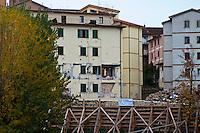 L'Aquila  20 Novembre 2010.Sos L'Aquila chiama Italia.La città  del L'Aquila  dopo 18 mesi dal terremoto..Sos L'Aquila called  Italy.The city of L'Aquila 18 months after the earthquake.