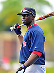11 March 2010: Boston Red Sox center fielder Mike Cameron awaits his turn in the batting cage prior to a Spring Training game against the New York Mets at Tradition Field in Port St. Lucie, Florida. The Red Sox defeated the Mets 8-2 in Grapefruit League action. Mandatory Credit: Ed Wolfstein Photo