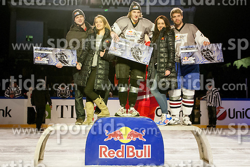 06.01.2013, Stadium Bezigrad, Ljubljana, SLO, EBEL, HDD Telemach Olimpija Ljubljana vs KHL Medvescak Zagreb 39. Runde, in picture Red Bull Crashed Ice during the Erste Bank Ice Hockey League in 39th Round match between HDD Telemach Olimpija Ljubljana and KHL Medvescak Zagreb at the open ice winter classic Stadium Bezigrad, Ljubljana, Slovenia on 2013/01/06. (Photo By Urban Urbanc / Sportida.com)