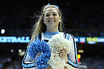 16 February 2013: UNC cheerleader. The University of North Carolina Tar Heels played the University of Virginia Cavaliers at the Dean E. Smith Center in Chapel Hill, North Carolina in a 2012-2013 NCAA Division I and Atlantic Coast Conference men's college basketball game. UNC won the game 93-81.