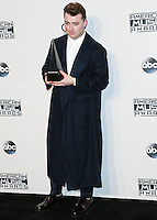 LOS ANGELES, CA, USA - NOVEMBER 23: Sam Smith poses in the press room at the 2014 American Music Awards held at Nokia Theatre L.A. Live on November 23, 2014 in Los Angeles, California, United States. (Photo by Xavier Collin/Celebrity Monitor)