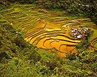 Ancient Rice Terraces at Bangaan Village, Banaue World Heritage Site, Ifugao, Philippines