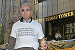 Fred King protested out front of Trump Tower a few days after the presidential election in 2016. President Donald Trump won in a shocking upset over Hilary Clinton.