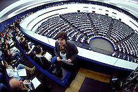 Views of European Parliament Strasbourg inside pictured on 12.03.2008.  EP celebrates  its 50th anniversary. 142 delegates met for the first time as the European Parliamentary Assembly on March 19, 1958. The European Parliament now has 785 members from 27 countries. [&copy; by Wiktor Dabkowski] ....