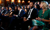 Actor Will Smith (2L) and singer John Legend (2R) attend a performance at the Kennedy Center called &quot;Taking the Stage; African American Music and Stories that Changed America,&quot;  an event celebrating the opening of the Smithsonian National Museum of African American History and Culture, September 23, 2016, Washington, DC. US President Barack Obama and First Lady Michelle Obama (unseen) also attend the event.<br /> Credit: Aude Guerrucci / Pool via CNP /MediaPunch
