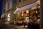 Cafe in Chartres at Night, France