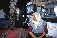 TURCHIA: Anatolia Orientale, sulla strada verso il sito archeologico di ANI,famiglia curda.TURKEY: Eastern Anatolia, on the road to  the archaelogical site of ANI. Kurdish family.
