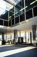 New York: Lever House, 390 Park Ave., 1952. Gordon Bunshaft of S-O-M, an International style skyscraper. Photo '88.