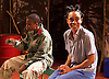 Liberian Girl <br /> at the Royal Court Theatre, London, Great Britain <br /> press photocall<br /> 9th January 2015 <br /> <br /> Juma Sharkah as Frisky <br /> Weruche Opia as Finda<br /> <br /> <br /> <br /> <br /> <br /> <br /> Photograph by Elliott Franks <br /> Image licensed to Elliott Franks Photography Services