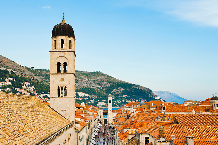 Franciscan monastery and city bell tower from dubrovnik - The house in the old franciscan tower ...
