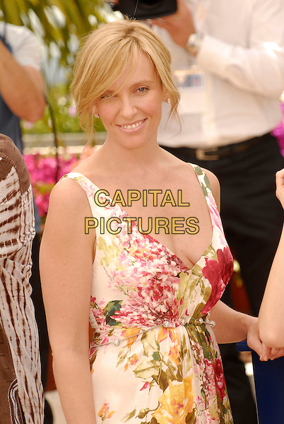 TONI COLLETTE.The Feature Films Jury photocall at the 60th International Cannes Film Festival, Cannes, France. .May 16th, 2007.half length red white yellow green floral print dress summery.CAP/KRA.©Persun/Capital Pictures