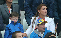 Unhappy Kai Rooney with Mum Coleen