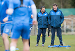 St Johnstone Training&hellip;14.04.17<br />Tommy Wright and Callum Davidson pictured during training at McDiarmid Park this morning ahead of tomorrow&rsquo;s game against Aberdeen.<br />Picture by Graeme Hart.<br />Copyright Perthshire Picture Agency<br />Tel: 01738 623350  Mobile: 07990 594431