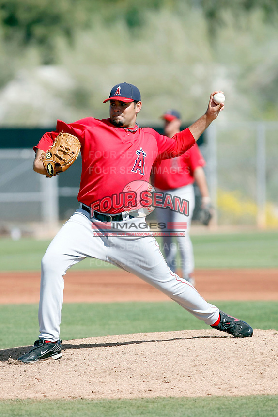 Robert Fish, Los Angeles Angels 2010 minor league spring training..Photo by:  Bill Mitchell/Four Seam Images.