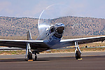 P-51 Mustang Galloping Ghost during an engine test run at the 2011 Reno National Championship Air Races
