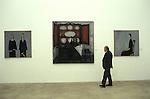 Bernard Buffet French artist expressionist painter (1928-1999) France Circa 1995.  Kassal Germany one man show. 1994.