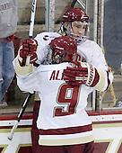 Barry Almeida (BC - 9), Kevin Hayes (BC - 12) - The Boston College Eagles defeated the visiting University of Toronto Varsity Blues 8-0 in an exhibition game on Sunday afternoon, October 3, 2010, at Conte Forum in Chestnut Hill, MA.