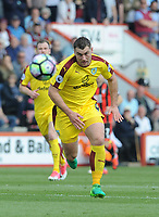 Burnley's Sam Vokes in action during todays match  <br /> <br /> Photographer Ian Cook/CameraSport<br /> <br /> The Premier League - Bournemouth v Burnley - Saturday 13th May 2017 - Vitality Stadium - Bournemouth<br /> <br /> World Copyright &copy; 2017 CameraSport. All rights reserved. 43 Linden Ave. Countesthorpe. Leicester. England. LE8 5PG - Tel: +44 (0) 116 277 4147 - admin@camerasport.com - www.camerasport.com