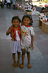 Two young Nicarguan girls in Leon, Nicaragua