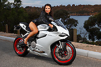 Emilie Bric Ducati bike shoot