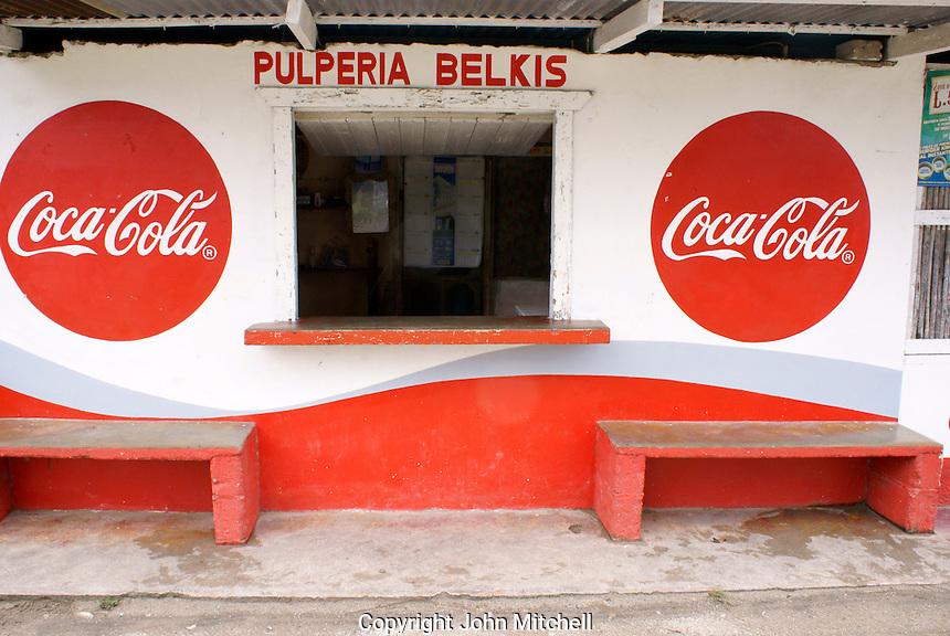 Pulperia or general store in the Garifuna village of Triunfo de la Cruz, Honduras...