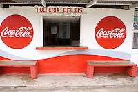 Pulperia or general store in the Garifuna village of Triunfo de la Cruz, Honduras...