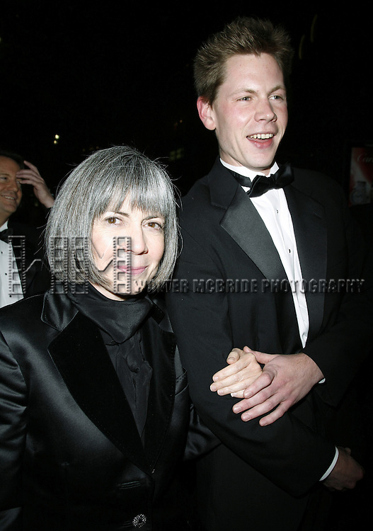 Anne Rice with her son Christopher Rice.attending the Opening Night of Warner Bros. Theatre Ventures' Inaugural production of LESTAT at the Palace Theatre with an after party at Time Warner Center in New York City. .April 25, 2006 .© Walter McBride/WM Photography