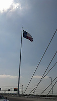 Texas Flag, Margaret Hunt Hill Bridge, Dallas Texas