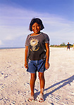 Local girl on the beach at Isla de Holbox, Mexico.
