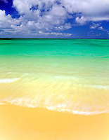 Lanikai Beach Island of Oahu, Hawaii Often voted the most beautiful beach in the U.S.  Morning  Windward Oahu near Kailua  August