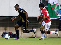 Fabio, Danny Mwanga. Manchester United defeated Philadelphia Union, 1-0.